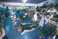 Shopping in Katherine Northern Territory 3.5 hours south of Darwin