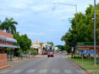 Katherine town in Northern Territory 3.5 hours south of Darwin